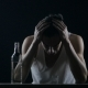 Depressed Man Crying With a Bottle Of Vodka. Man In Despair - VideoHive Item for Sale
