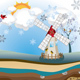 Winter Windmill Island - GraphicRiver Item for Sale