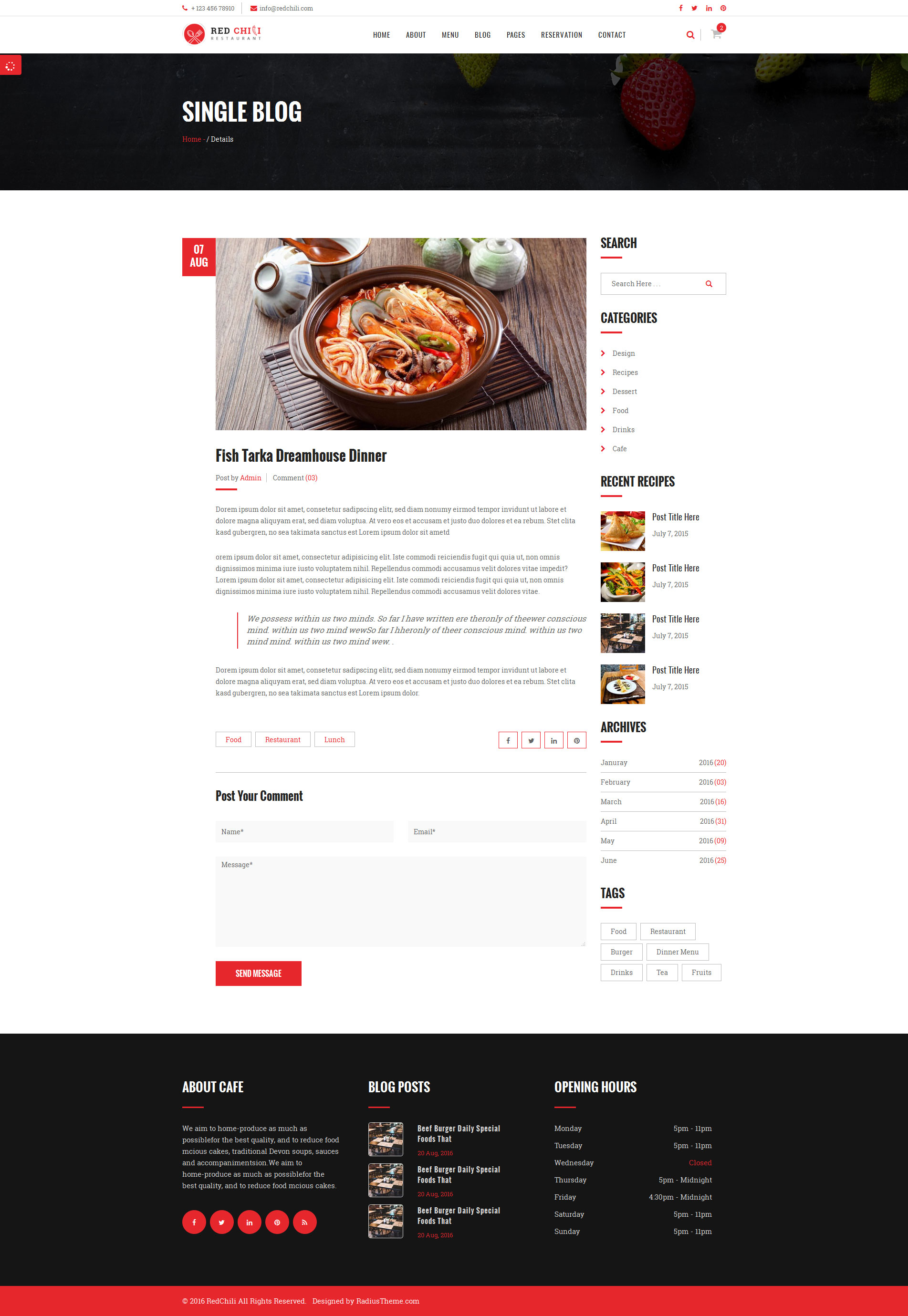 Red Chili - Restaurant HTML5 Template by RadiusTheme ...