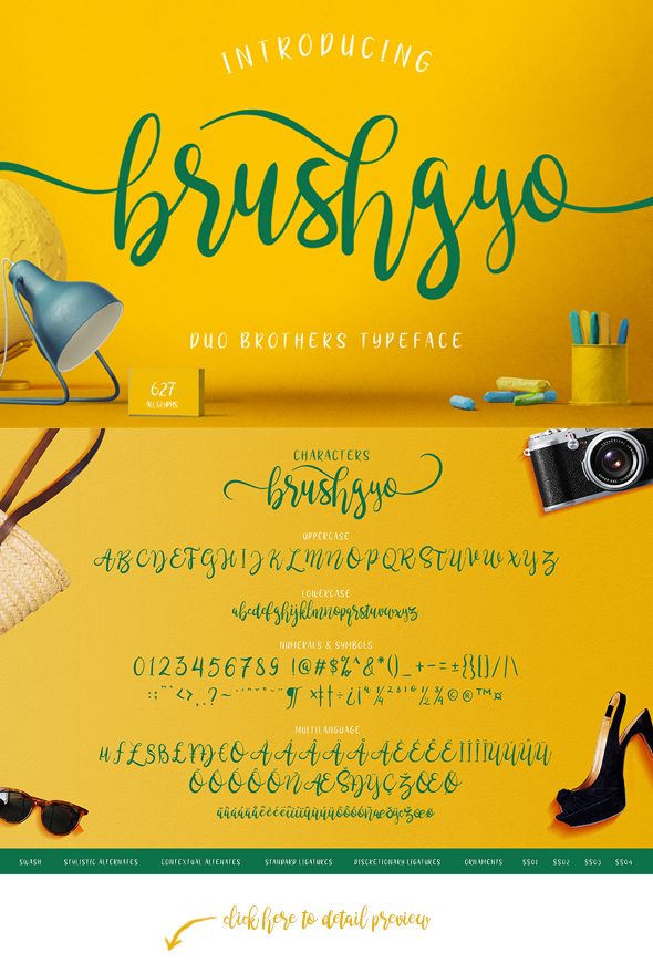 brushgyo typeface - Script Fonts