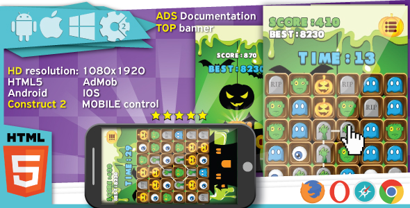 Bubbles world - HTML5 fun game + Mobile control + AdMob - 10