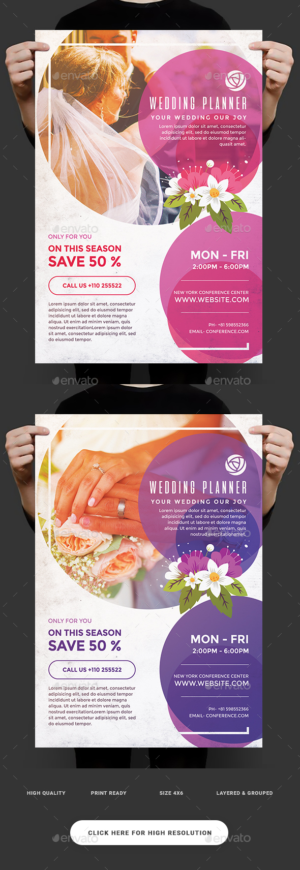 wedding planner flyer by superboy1 graphicriver