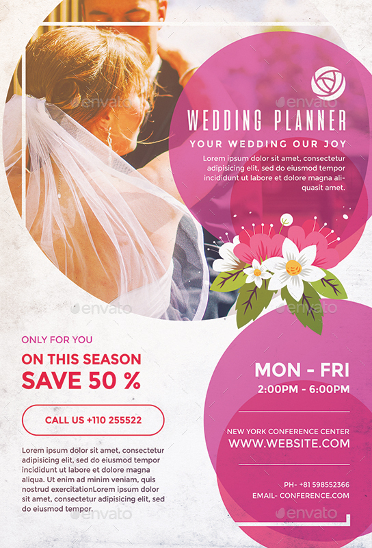 Wedding planner flyer by superboy1 graphicriver for Bridesmaid newsletter template