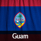 Ruffled Flag of Guam - GraphicRiver Item for Sale