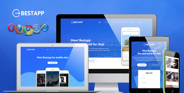 Bestapp Premium App Showcase Landing Page - Apps Technology