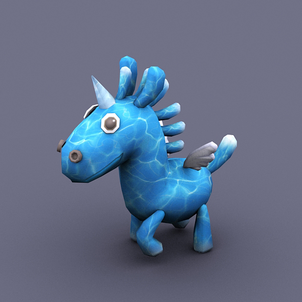 funny horse blue - 3DOcean Item for Sale