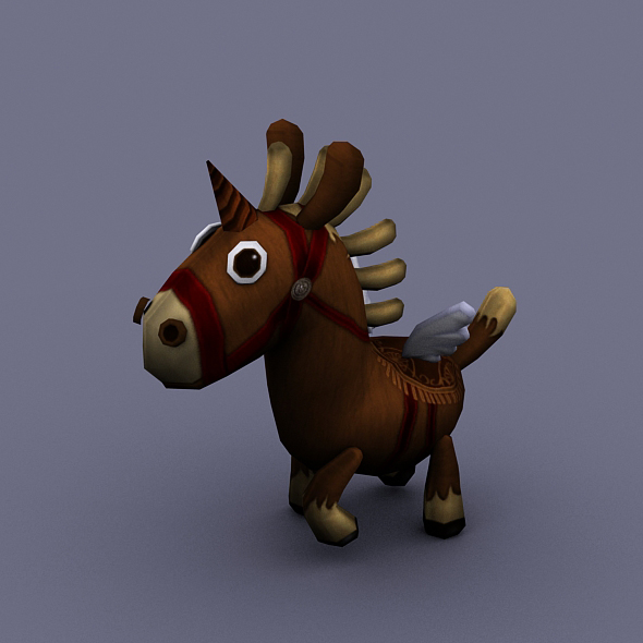 funny horse brown - 3DOcean Item for Sale