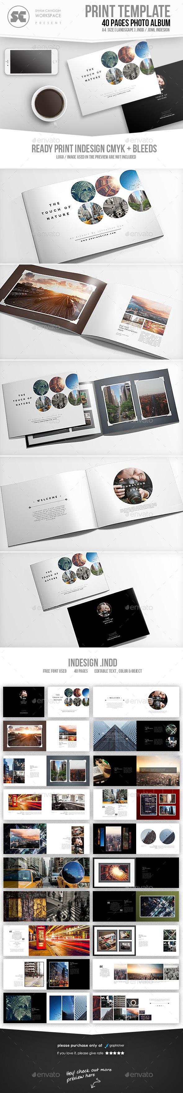 Photo Album Booklet - Photo Albums Print Templates