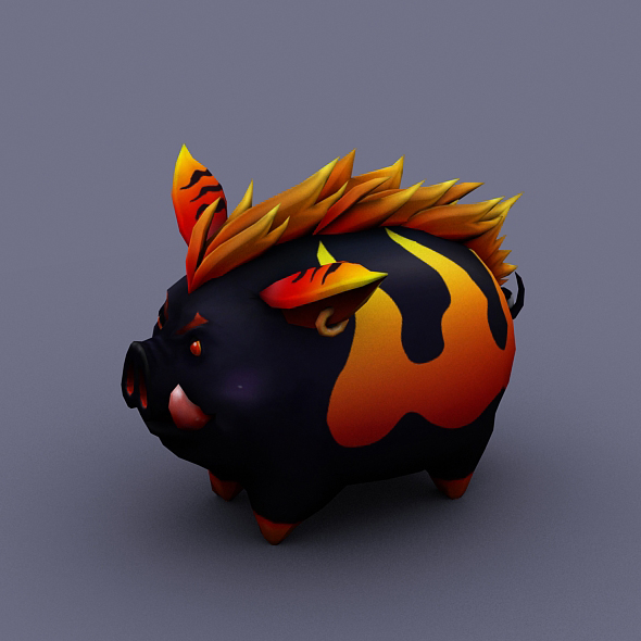 funny boar evil - 3DOcean Item for Sale