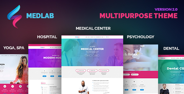 MedLab – Medical Center, Beauty & Health, Dental, Hospital & Psychology, Spa, Yoga, Psychologist