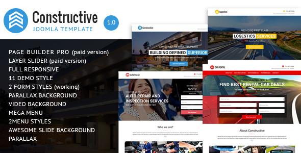 Constructive – Contractors Multipurpose Joomla Landing Page Theme