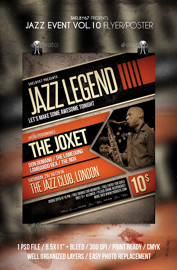 Jazz Event Flyer / Poster Vol 10 - Events Flyers