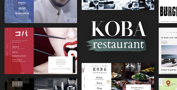 KOBA  - A Delicious Restaurant WordPress Theme - Restaurants & Cafes Entertainment