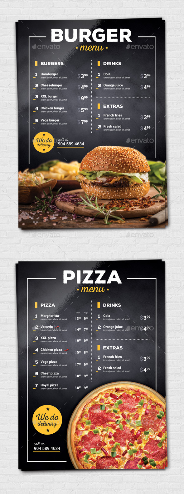 Burger / Pizza Flyer - Food Menus Print Templates