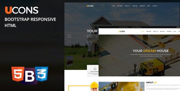 Ucons Construction, Building, Factory – Fully Bootstrap Responsive