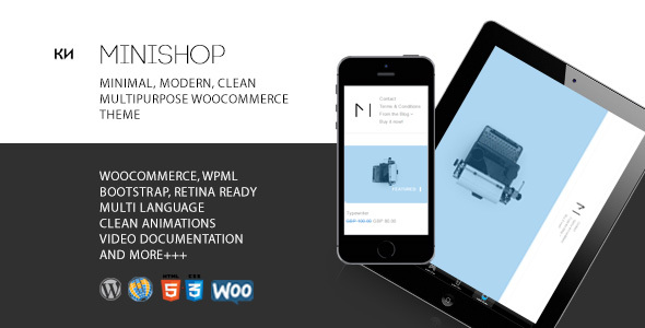 MiniShop – Multipurpose, Minimal, e-Commerce, Marketplace WordPress Theme