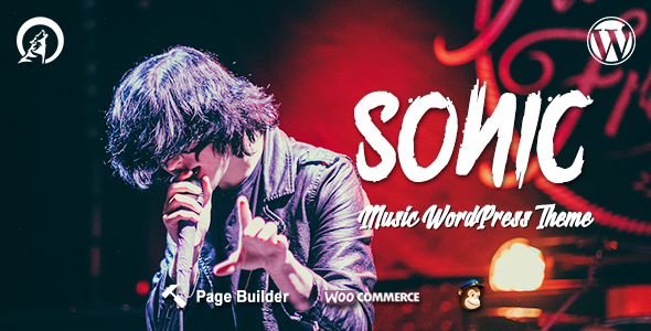 Sonic - Responsive WordPress Theme for the Music Industry with AJAX navigation