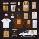 Coffee Corporate Identity Design Set