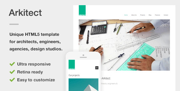 Arkitect - A Professional HTML5 Template for Architects and Engineers - Business Corporate