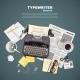 Journalist Typewriter Background