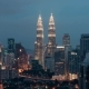 Night Changing Evening In Kuala Lumpur - VideoHive Item for Sale