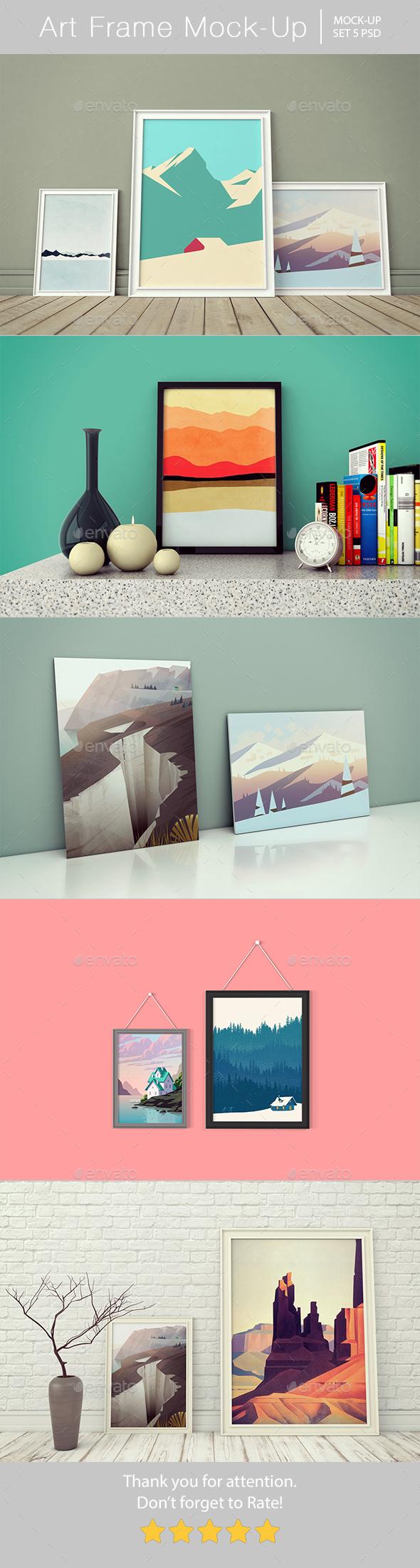 Art Frame Mockup - Posters Print