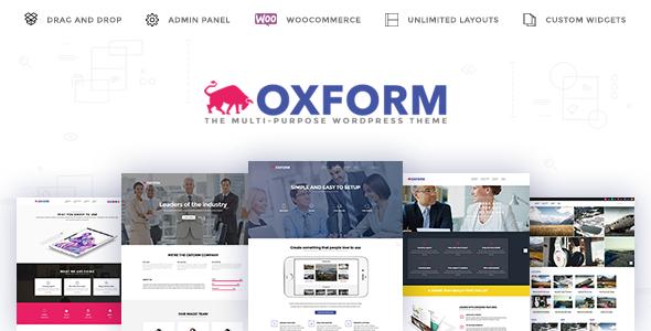 Oxform - Creative Multi-Purpose WordPress Theme - Creative WordPress