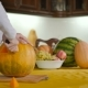 The Girl Carves The Pumpkin On The Halloween - VideoHive Item for Sale