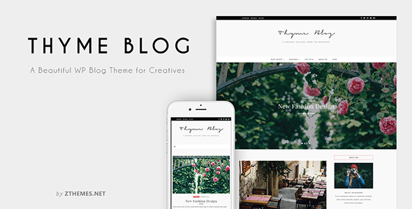 Thyme – A Personal Blog Theme for WordPress