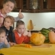 Children And Their Mother Celebrate Halloween - VideoHive Item for Sale