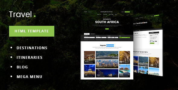 TravelDot – Travel/Tour/Booking HTML Template