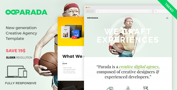 Parada | Creative Agency Template - Creative Site Templates
