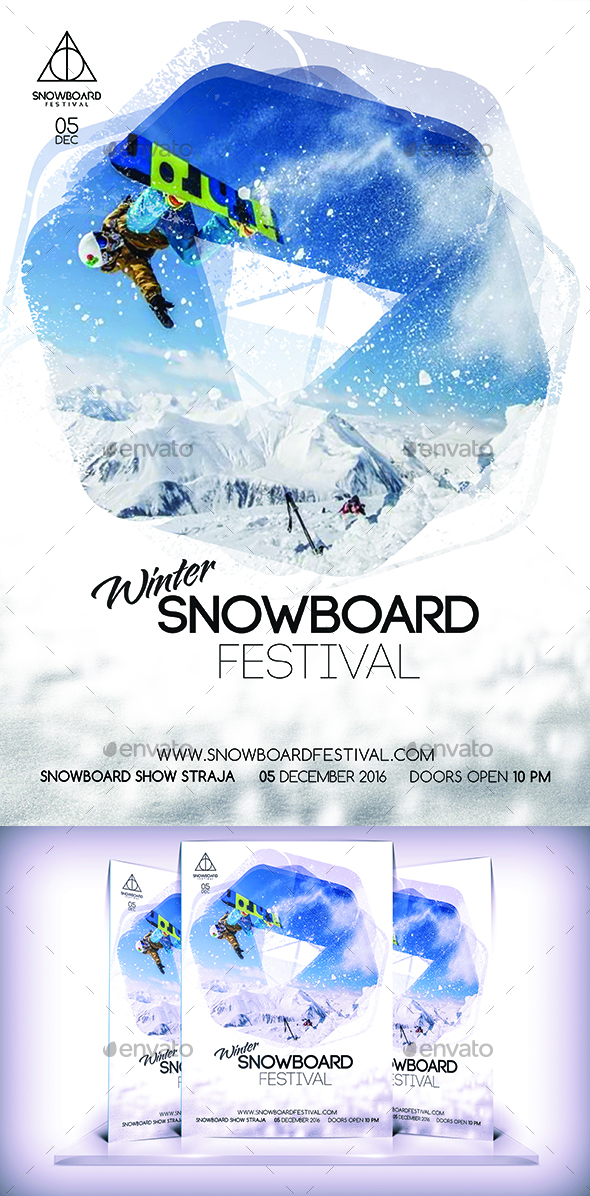 Snowboard Festival Flyer - Sports Events