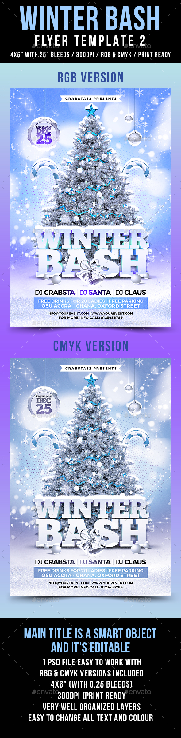 Winter Bash Flyer Template 2 - Flyers Print Templates