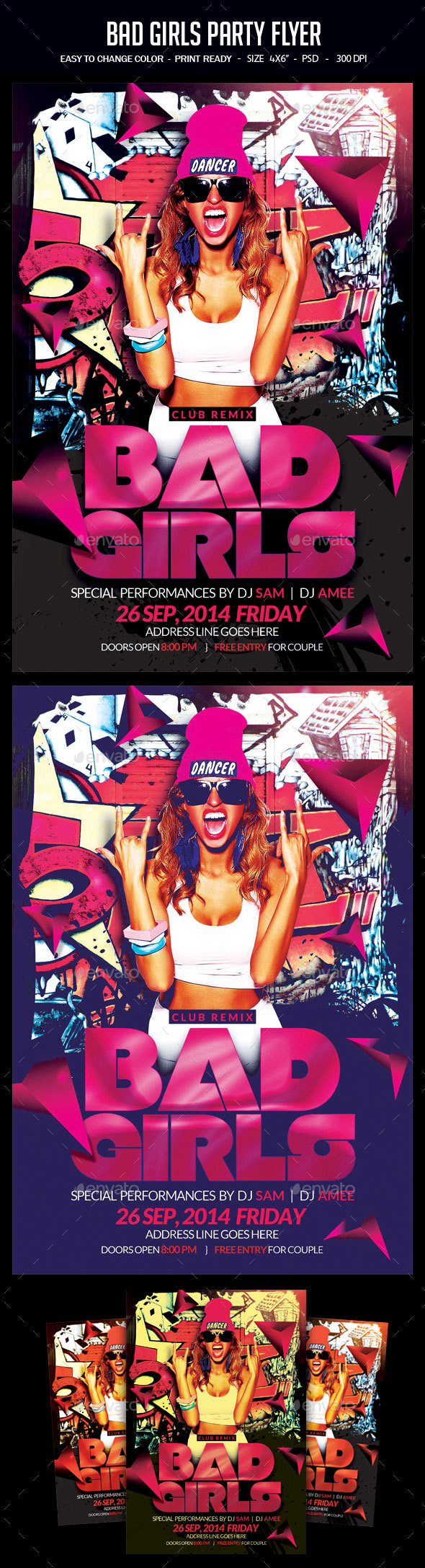 Bad Girls Party Flyer - Clubs & Parties Events