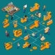 Factory Workers Isometric Composition - GraphicRiver Item for Sale