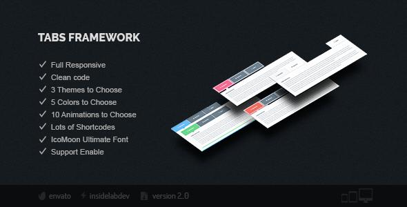 Tabs Framework - CodeCanyon Item for Sale