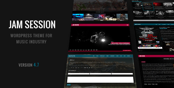 JamSession - Music & Music Band WordPress Theme - Music and Bands Entertainment