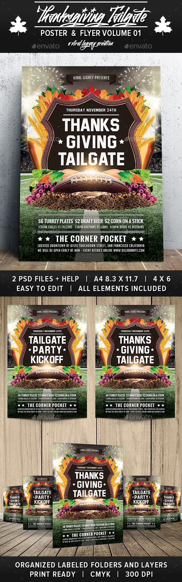 Thanksgiving Tailgate V01 - Sports Events