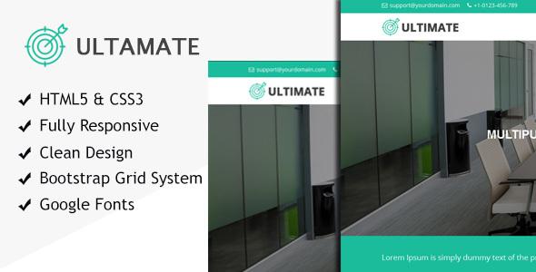 Ultimate multiple purpose HTML responsive site template - Business Corporate