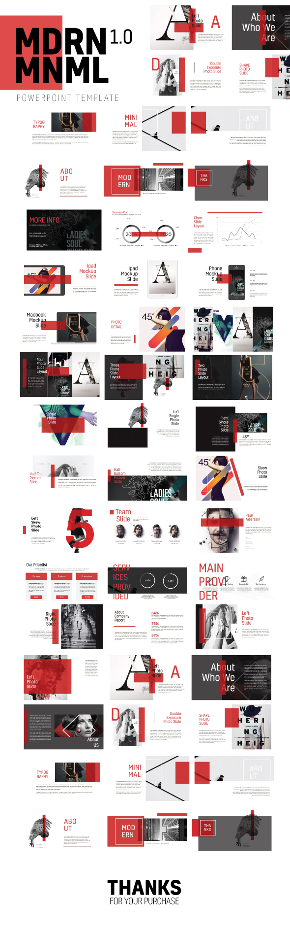 Mdrn Mnml Powerpoint Template Multipurpose by H_M | GraphicRiver