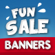 Fun Holidays Banners Set - GraphicRiver Item for Sale