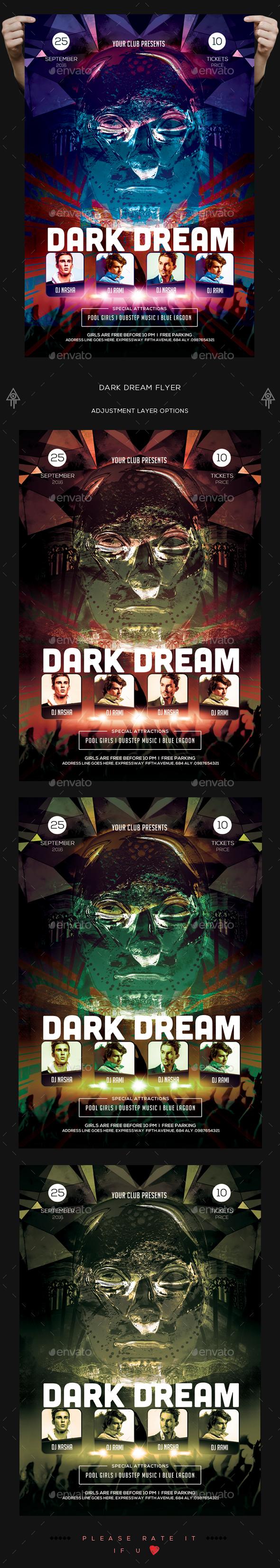Dark Dream Flyer - Clubs & Parties Events