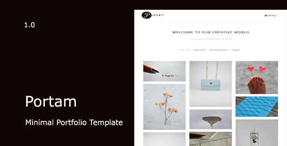 Portam – Minimal Portfolio Template