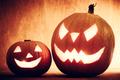 Halloween pumpkins glowing, jack-o-lantern