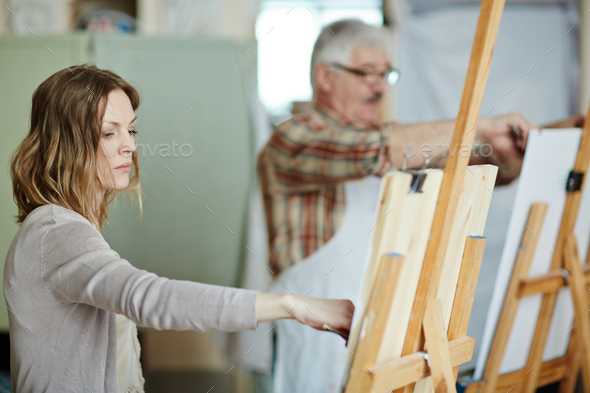Drawing in studio - Stock Photo - Images