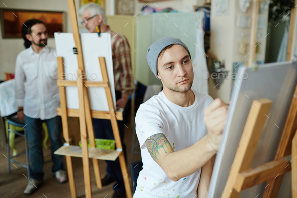 Studying in art-school - Stock Photo - Images