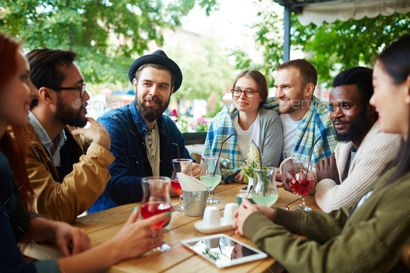 Hangout of friends - Stock Photo - Images