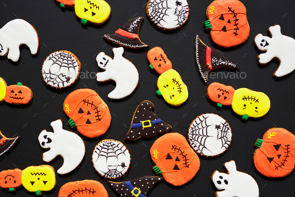 Halloween biscuits - Stock Photo - Images