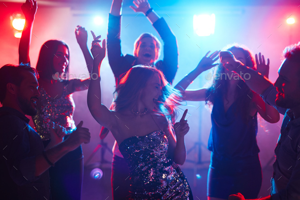 Group of friends dancing - Stock Photo - Images